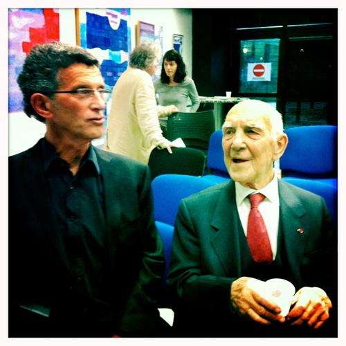 Stéphane Hessel et François Bernheim